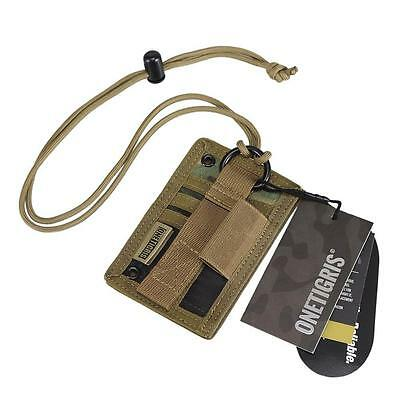 Tactical ID Card Holder Military Patch Badge Neck Lanyard Key Ring Credit Card