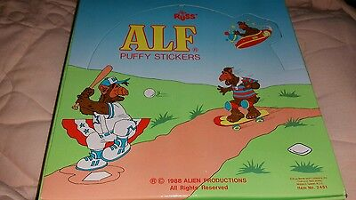 NEW Russ Vintage store display 1988 ALF Puffy Stick-Ons Stickers NIP box