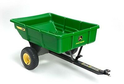 Utility Cart Tow Behind Heavy Duty Plastic Bed Pneumatic Tires 450 lb. 7 cu. ft.