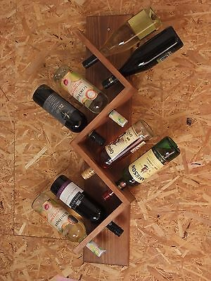 Wooden wine rack bottle holder - 8 Bottles - Wall Mounted