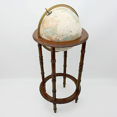 PARTS REPAIR Vtg George F. Cram Co World Globe on Wooden Stand USSR Soviet Union