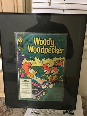 WOODY WOODPECKER COMIC BOOK #193 AUTOGRAPHED BY WALTER LANTZ WITH COA Framed!