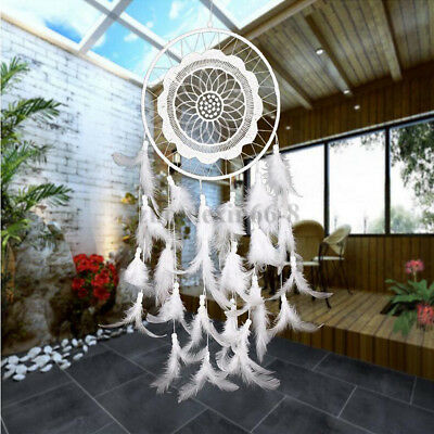 Handmade Dream Catcher Lace Feathers Beads Ornament Home Wall Car Hanging Decor