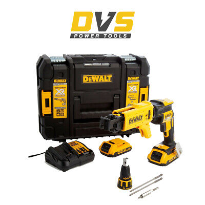 DeWalt DCF620D2K 18V Collated Autofeed Drywall Screwdriver Brushless 2 x 2.0Ah