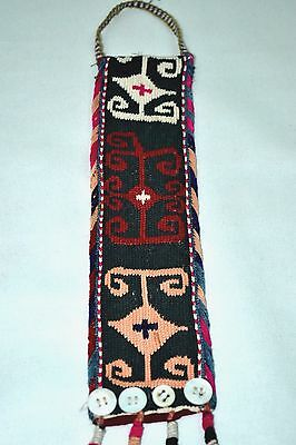 Old Hand Made Woven Wall Hanging Antique Pure Silk Suzani Vintage Embroidery 204