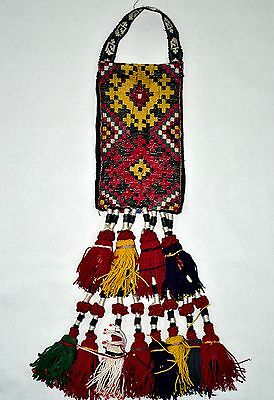 Old Hand Made Woven Wall Hanging Antique Pure Silk Suzani Vintage Embroidery 191