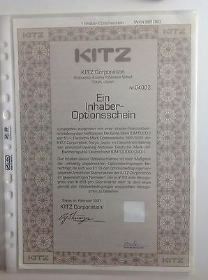 KITZ Corporation historischer Optionsschein 1er 1991/95
