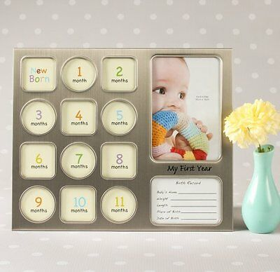 Baby Photo frame, first year,  gift