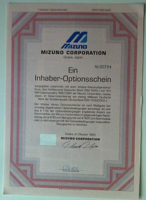 MIZUNO Corporation historischer Optionsschein 1er 1990/94