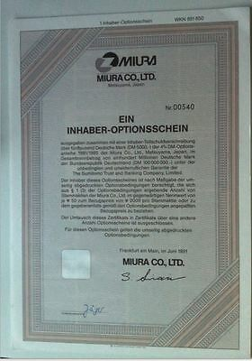 MIURA Co., Ltd. historischer Optionsschein 1er 1991/95