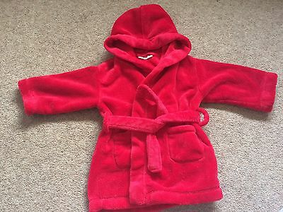 Little White Company Red Dressing Gown / Robe, 12-18 Months