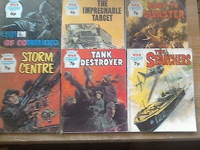 Six War Picture Library Comics.#776/#881/#921/#958/#978/#980/1970's.