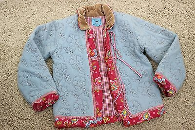 Room Seven Girl's Jacket Floral Wool Blend Full Zip Size 116-6