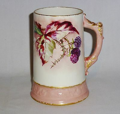 "Willets Belleek Mug Berry & Floral Motif (5 1/2"" Tall)"