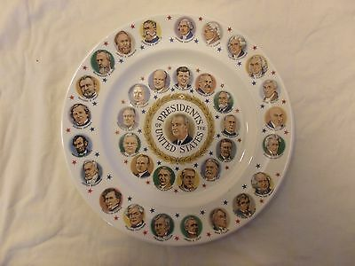 Presidential China Collector Plate of LBJ+34 US Presidents