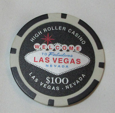Welcome To Fabulous Las Vegas 100 High Roller Casino Collectible Chip 5 00 Picclick