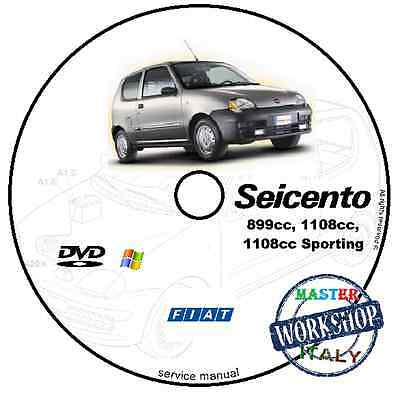 Manuale Officina Fiat Seicento 600 Workshop Manual Service Cd Dvd Software