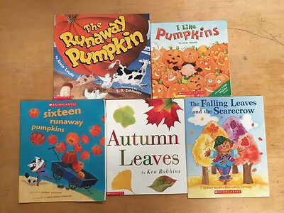 Lot Of 5 Fall Themed Children's Books #2428 FREE SHIPPING