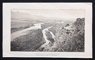 1878 Yellowstone River Valley Lithograph Original Survey of the Territories RARE