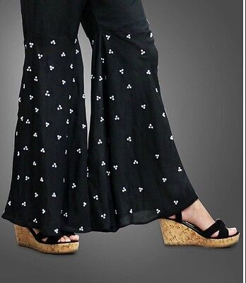 Pakistani/Indian Peplum Pants Trousers Silk White Gold Black Eid Collection