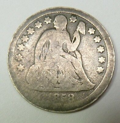 1858-P Seated Liberty Dime Silver 10c US Coin Item #10647