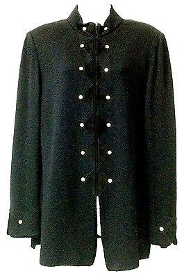 St. John Collection By Marie Gray Studded Suede Detail Black Knit Jacket 14