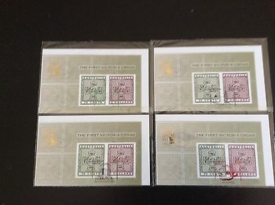 Australia 2015 set of 4 First Victoria Cross MS (Imperforate) Sydney Stamp Expo