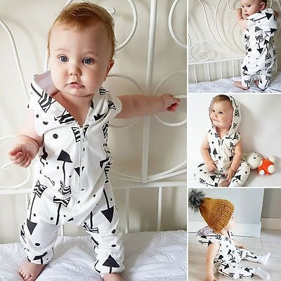 Toddler Kids Girls Boys Cotton Warm Pajama Clothes Bodysuit Romper Outfits 0-18M