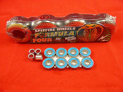 SPITFIRE F4 RADIAL SLIMS 54mm/101 D NIGHT CRAWLERS SKATEBOARD WHEELS+ABEC 11's