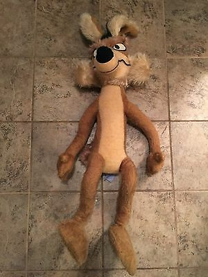 "Vintage Wile E Coyote Large Plush Stuffed Animal 41"" Tall 1971 Looney Tunes"