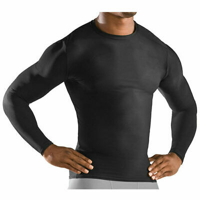 *CHEAP* MENS BLACK LONG SLEEVE COMPRESSION TOP Athlete Training Activewear Gym
