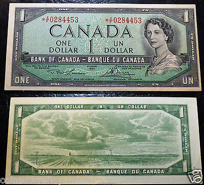1954 Bank of Canada $1  *X/F  Replacement Banknote