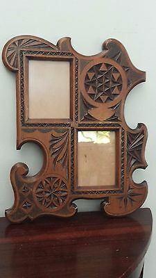 Antique Chip Carved Photo Wall Frame