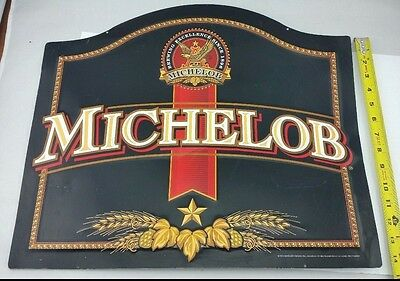 """1999 Anheuser-Busch Michelob Beer Tin Sign 20"""" x 17"""", used, Black, retro, gift"""