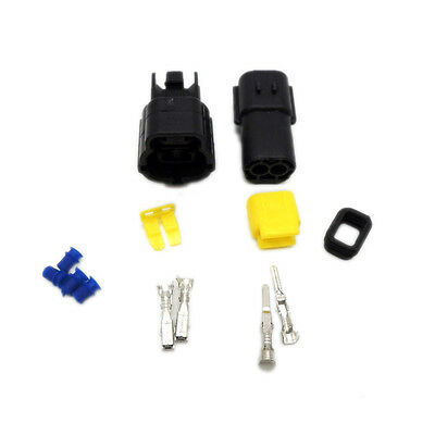 5 set of 2 Pin Way Sealed Waterproof Electrical Wire Connector Plug Terminal Set