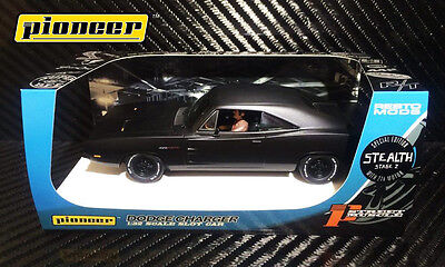 Pioneer Slot Car P091 Dodge Charger 426 Hemi Stealth Black Limited Edition