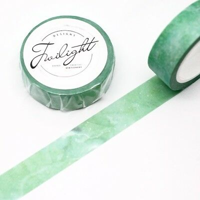 Washi Tape - Watercolour Sea Green 15mm x 8m Water Colour Clouds