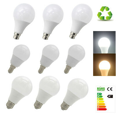 LED Light Bulb E14 E27 B22 3W 5W 7W 9W 12W 15W 18W 20W Cool Warm White 220-240V
