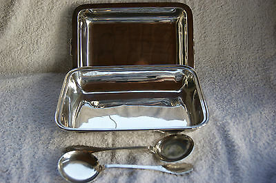 Vintage Silver Plated H. B & H C 1850  Tureen Dish  + Pair Epns Serving Spoons