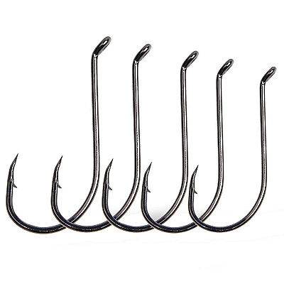 200Pcs Octopus Fishing Hook High Carbon Steel Jig Hook Black Fish Hook 8#-9/0