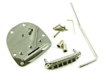 Jazzmaster / Jaguar Style Guitar Tremolo Bridge And Tailpiece • Chrome
