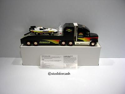 2000 Sunoco Gold Edition Transporter Truck & Stock Car Rare!