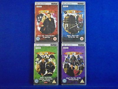 UMD DOCTOR WHO x4 Volume 1-4 Volume BBC Series Playstation Portable PSP