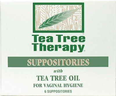 Tea Tree Therapy - Tea Tree Oil Suppositories With Tea Tree Oil, 6 ct 2 pk by
