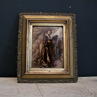 19th Century Fairy Tale Crystoleum - Gilt Framed Victorian Etching Behind Glass