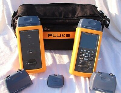 Fluke Networks DSP 4300 Cable Tester Analyzer!!! With Remote Soft Case & MORE!!!