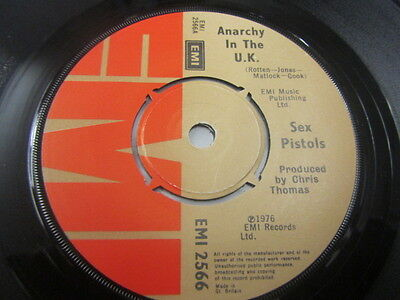 "Sex Pistols Anarchy In The Uk 7"" Chris Thomas A1/b2 Excellent Condition"