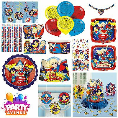 DC Girl Super Heroes Stickers Tableware Baloons Party Decorations