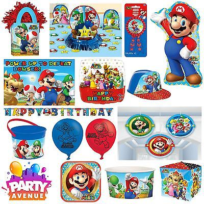 Nintendo Mario Birthday Party Decorations Balloon Tableware
