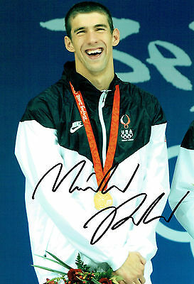Michael PHELPS Autograph Signed Photo 2 AFTAL COA Team USA Gold Medal Swimmer